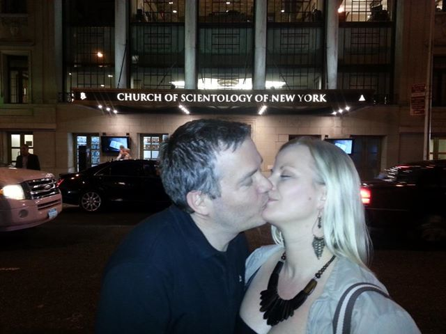 "Anette & Geir kissing as part of the ""making out in front of churches""-series"