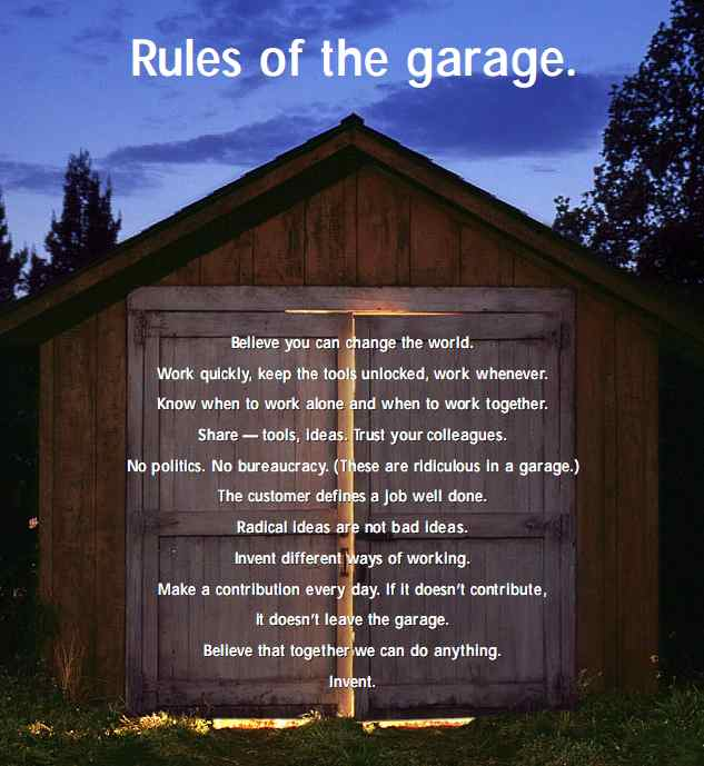 We will adopt the HP garage rules
